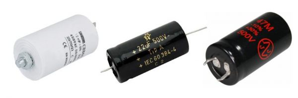 Motor run, F+T and JJ capacitors