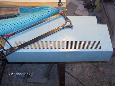 Cutting steel sheet