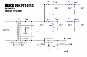 Black Box Pre power supply schematic