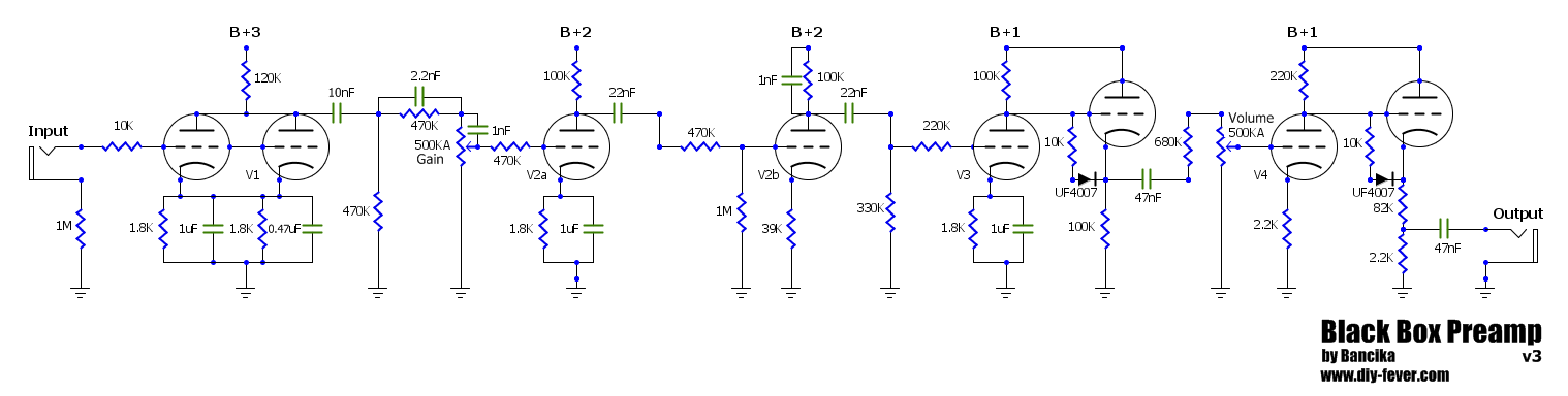 black_box_schematic amps \u003e soldano preamp diy fever building my own guitars, amps preamp wiring diagram at bayanpartner.co