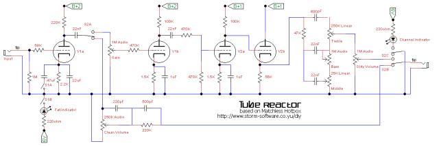Tube Reactor schematic