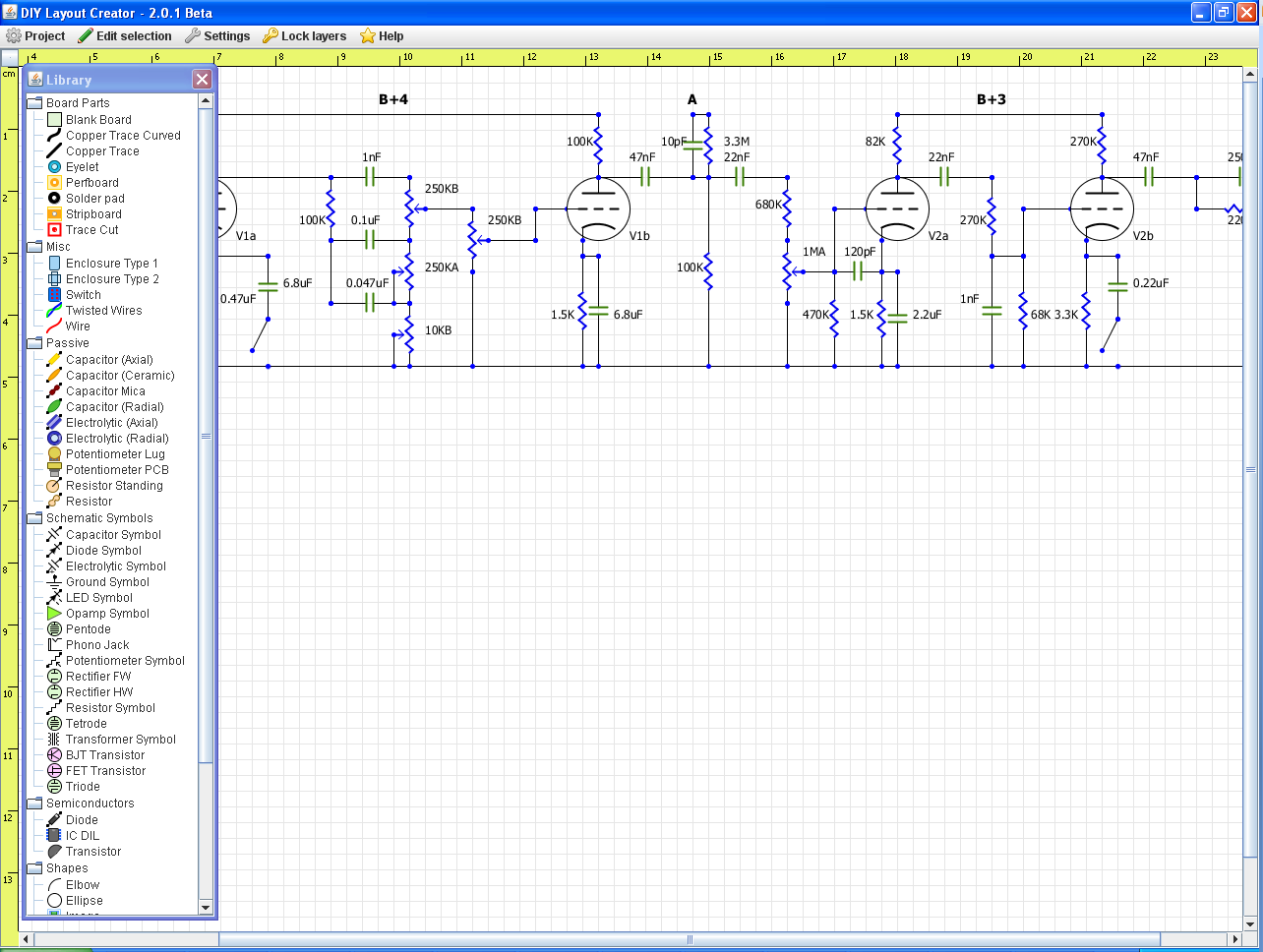 Diy Layout Creator Fever Java Breadboard Simulator This Is How You Can Use The Program Diylc 2