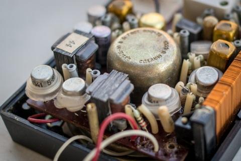 Audio amplifier part of the circuit