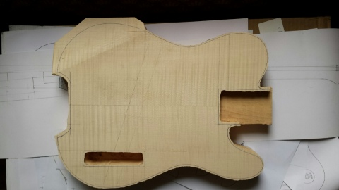 Body blank roughly cut to shape